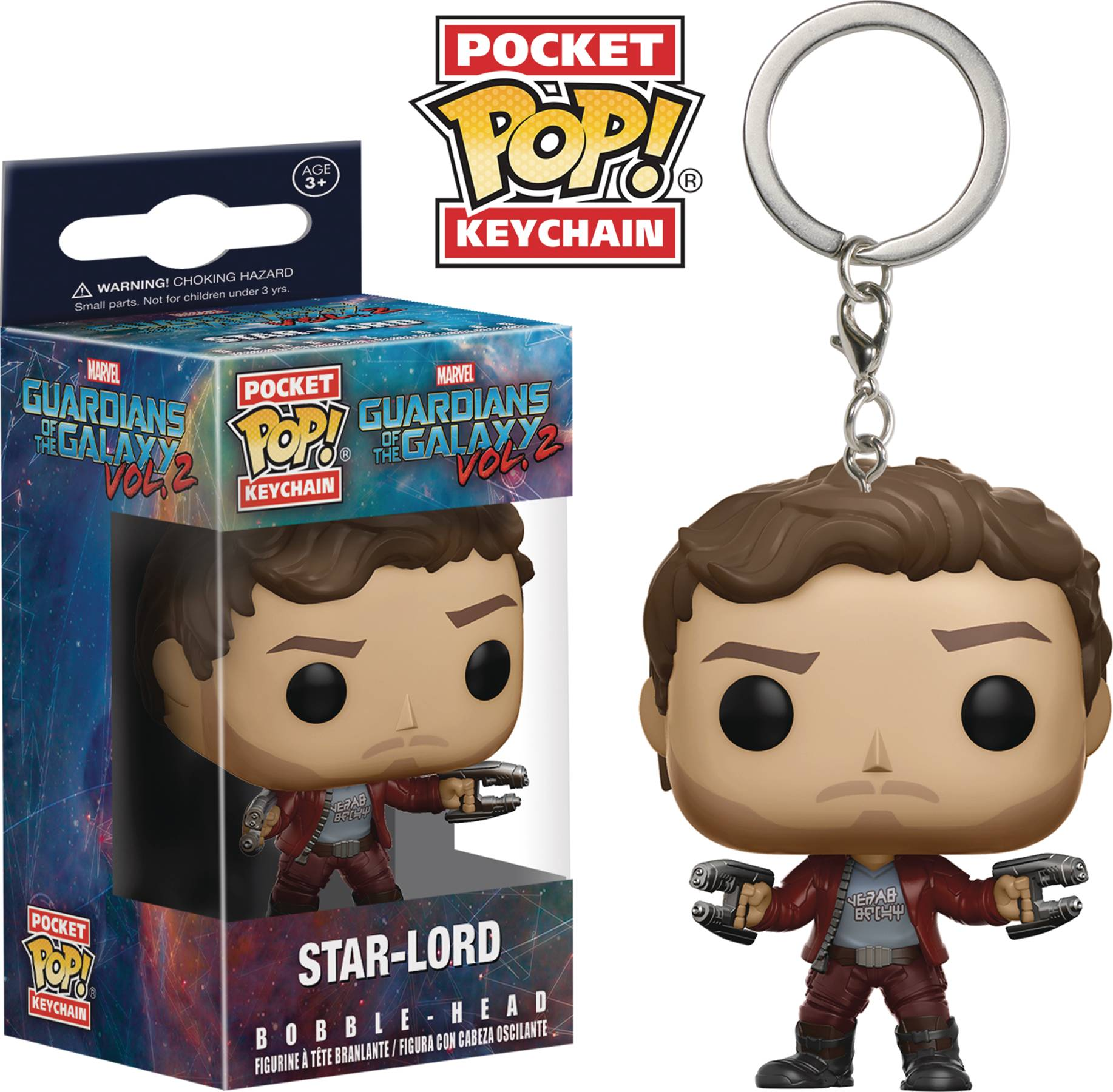 POCKET POP GOTG VOL 2 STAR-LORD FIG KEYCHAIN