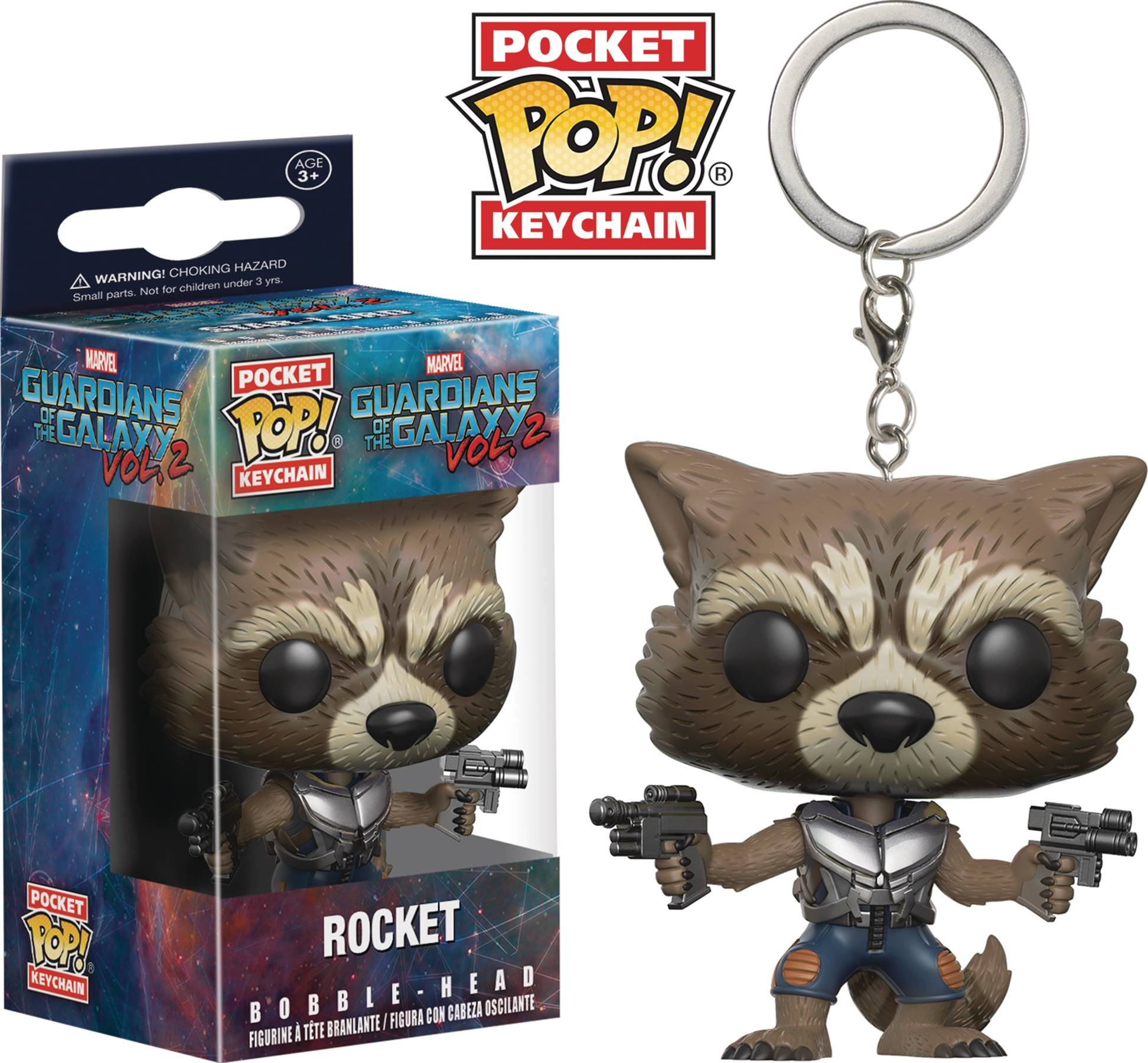 POCKET POP GOTG VOL 2 ROCKET RACCOON FIG KEYCHAIN