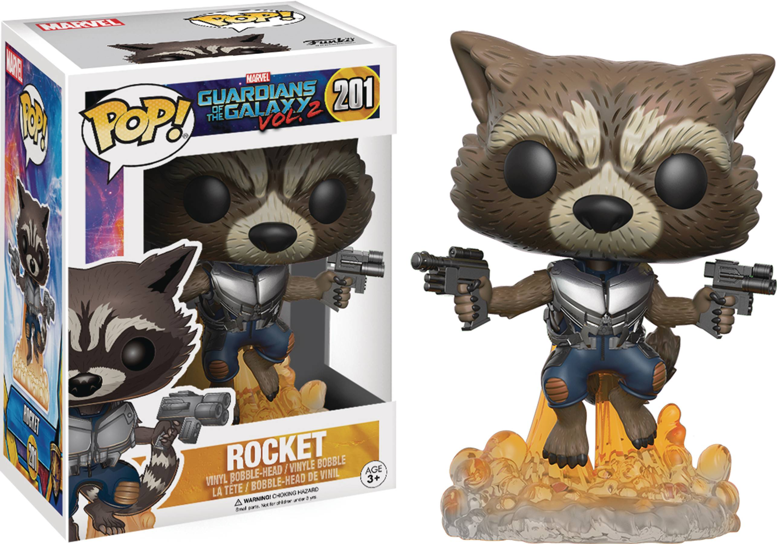 POP GUARDIANS OF THE GALAXY VOL2 ROCKET RACOON VINYL FIG