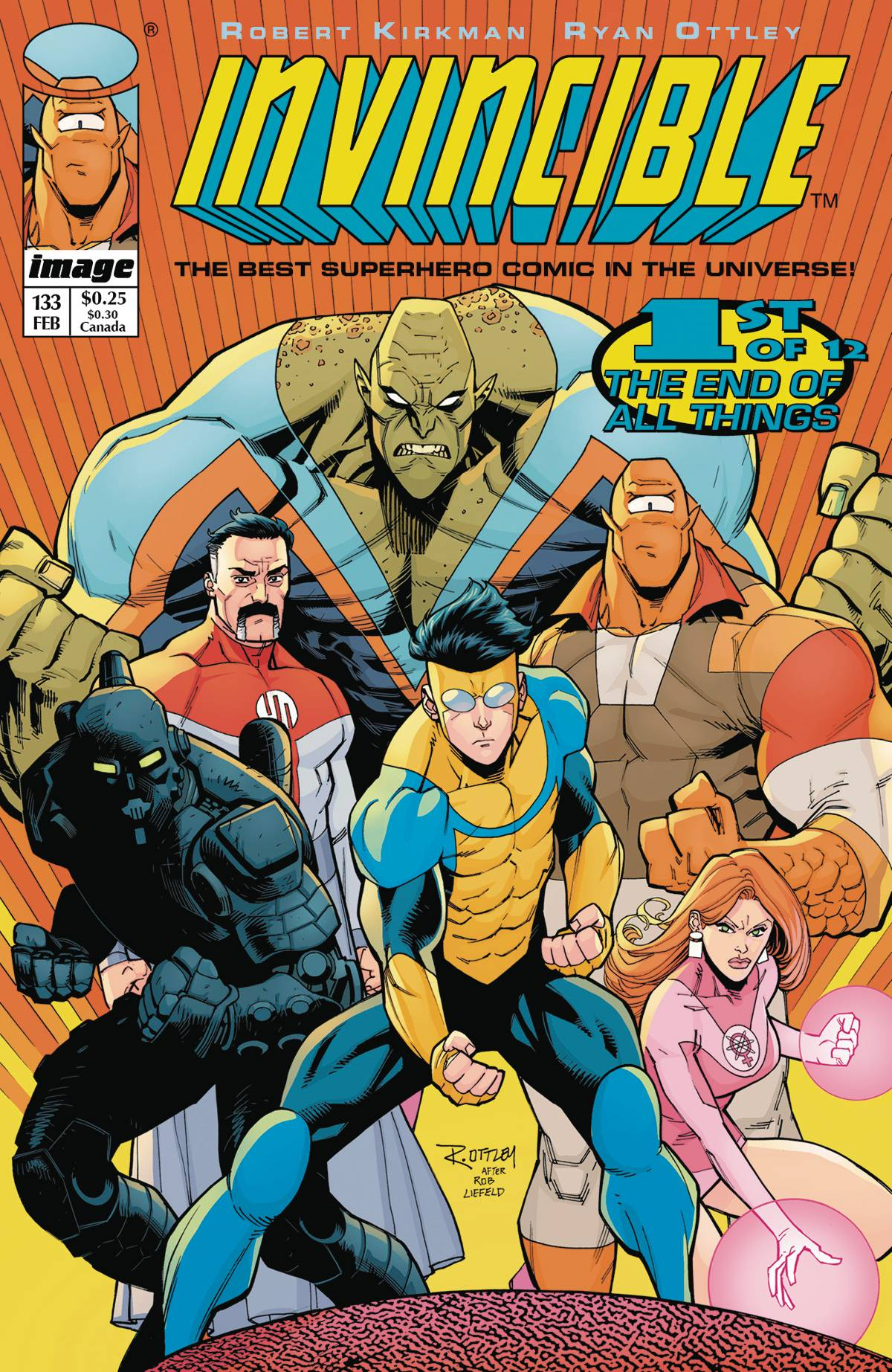 INVINCIBLE #133 CVR B IMAGE TRIBUTE VAR