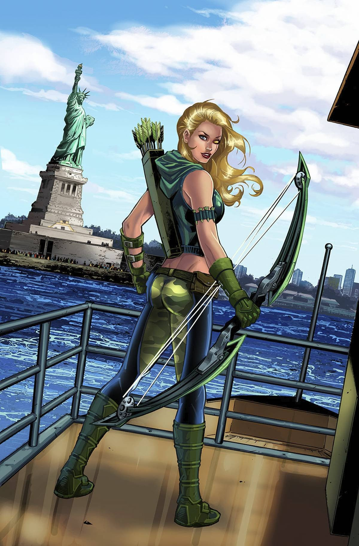 GFT ROBYN HOOD I LOVE NY #12 (OF 12) CVR A RIVEIRO