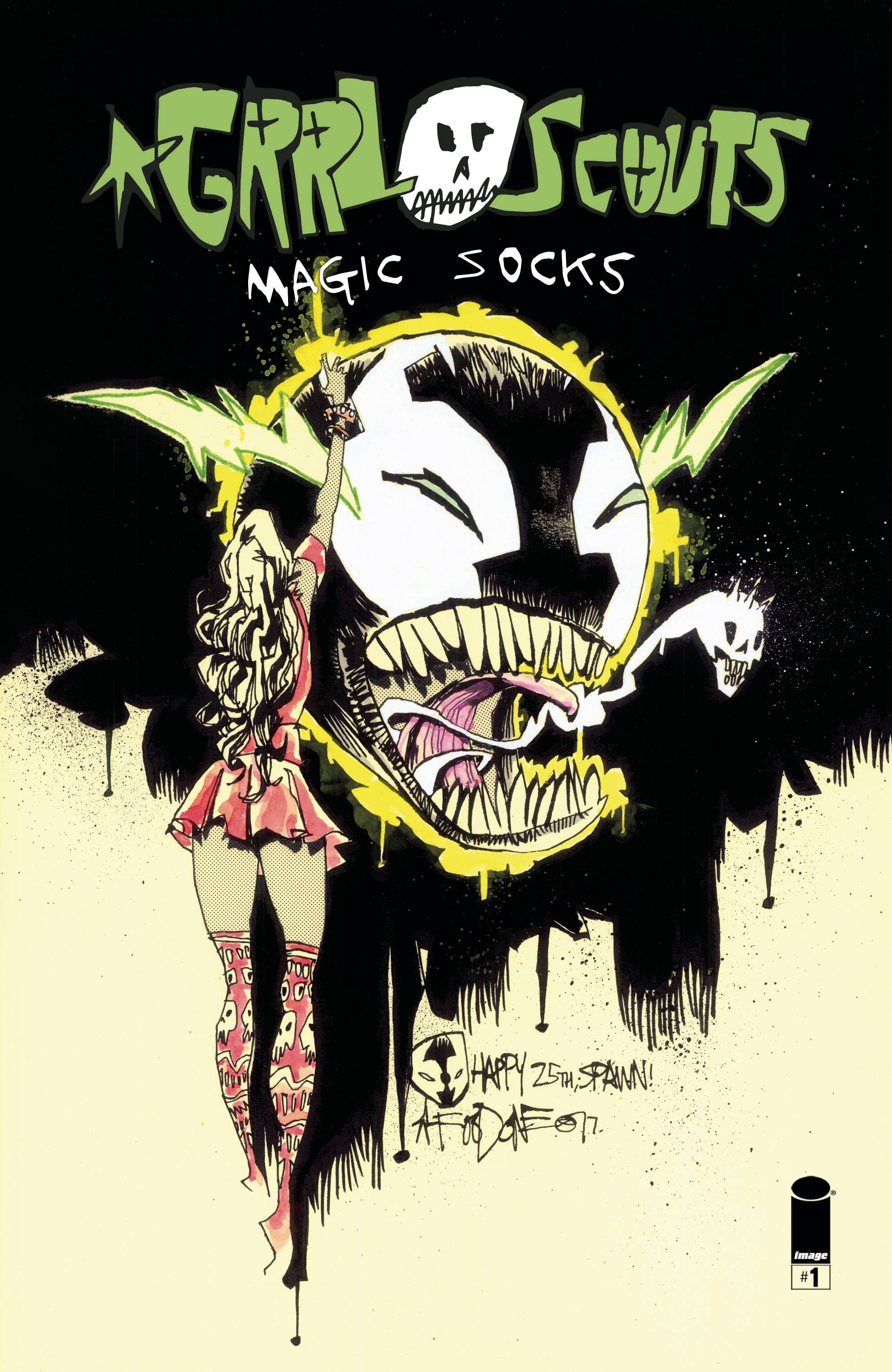 GRRL SCOUTS MAGIC SOCKS #1 (OF 6) CVR C SPAWN MONTH VAR