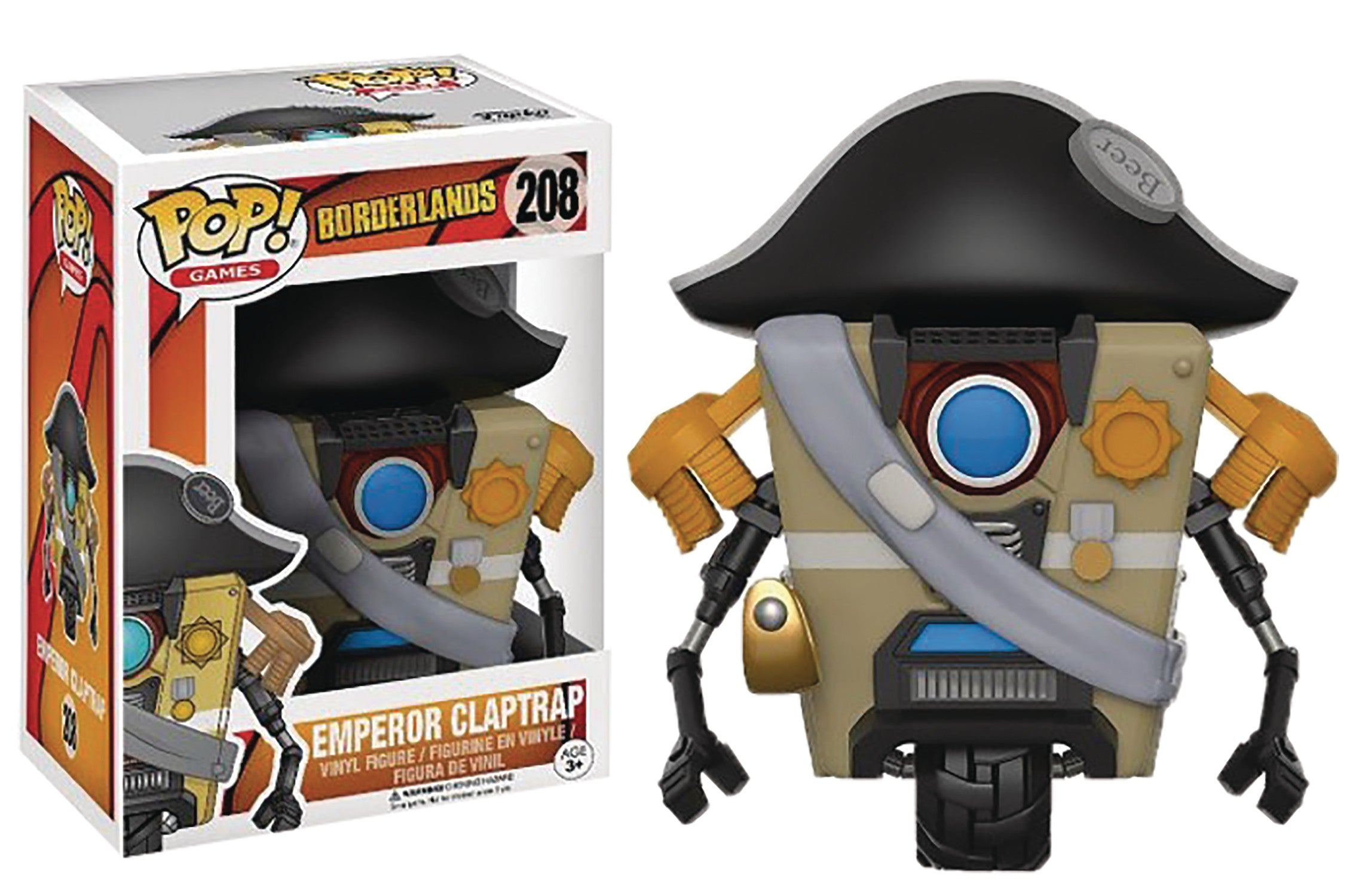 POP BORDERLANDS EMPEROR CLAPTRAP VINYL FIG