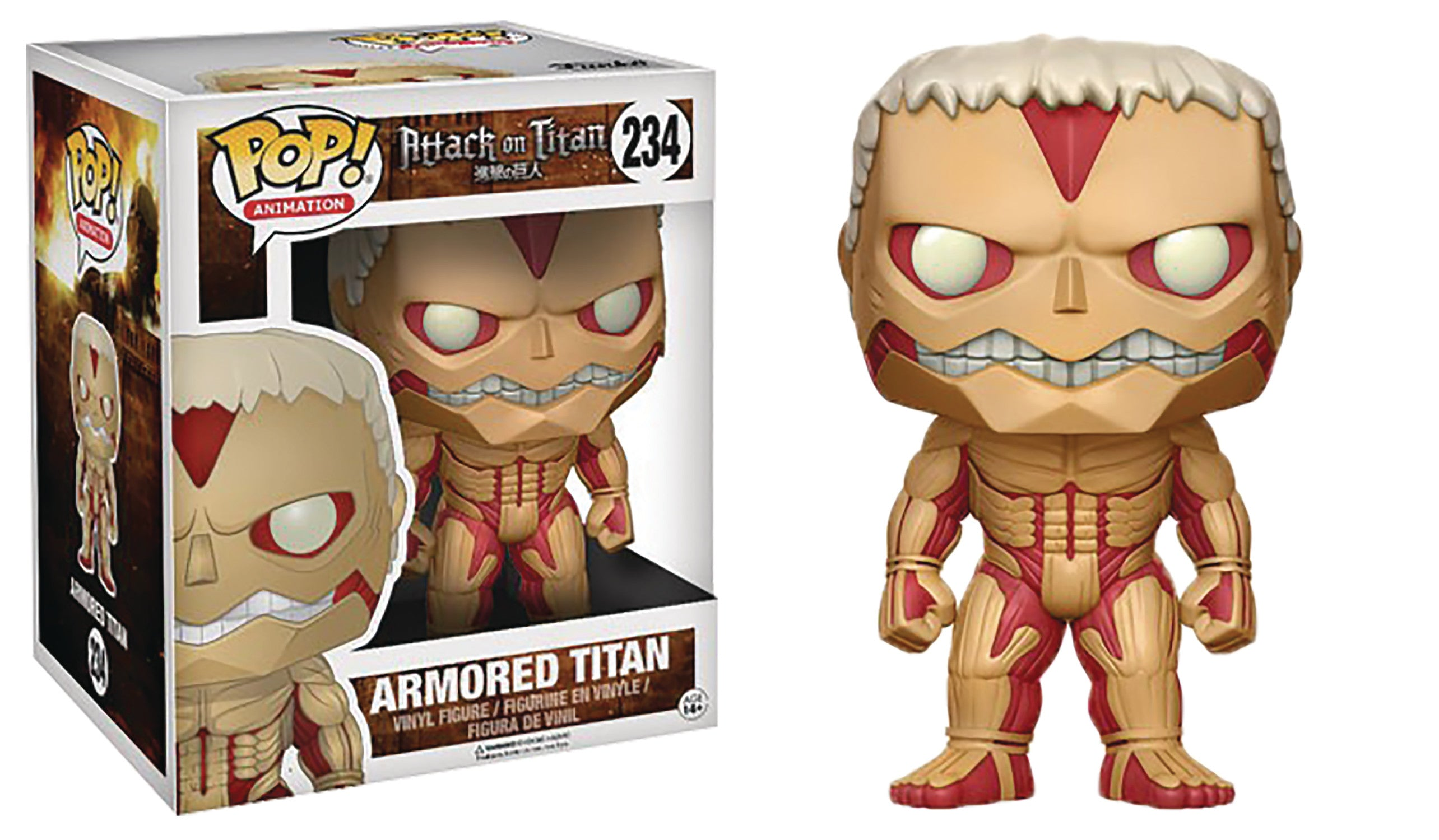 POP ATTACK ON TITAN ARMORED TITAN 6IN VINYL FIG