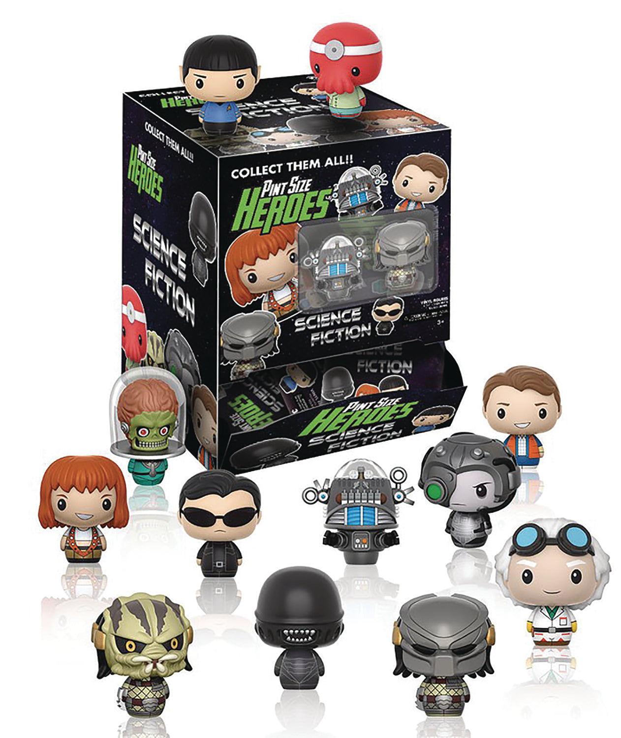 PINT SIZED HEROES SCIENCE FICTION 24PC BMB DISP