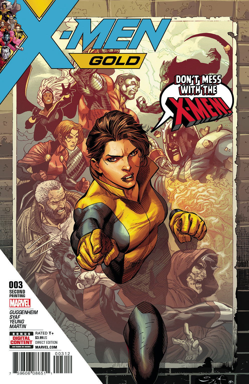 X-MEN GOLD #3 2ND PTG SYAF VAR