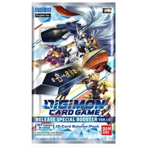 Digimon Card Game: Release Special Booster Ver 1.0 Booster Pack