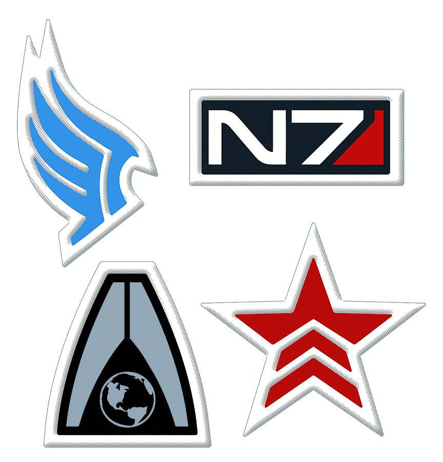 MASS EFFECT N7 LOGO EMBROIDERED PATCH (C: 0-1-2)