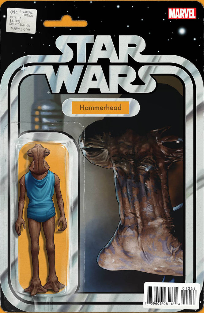 STAR WARS #14 CHRISTOPHER ACTION FIGURE VAR VDWN COVER