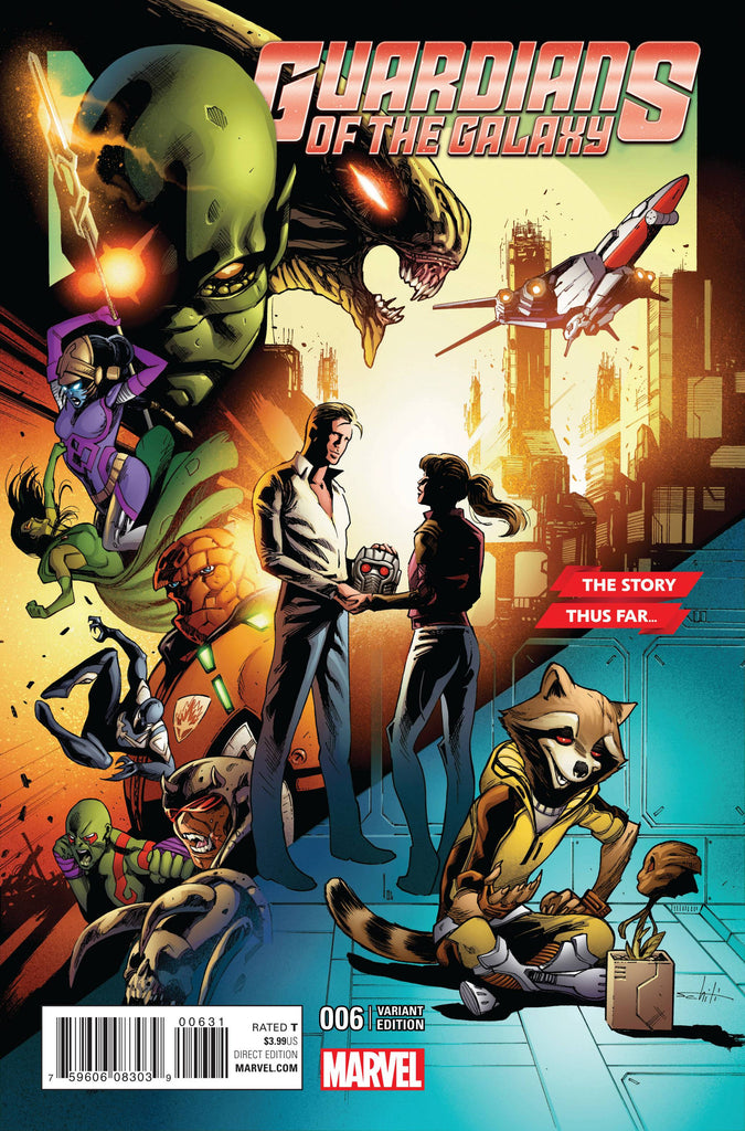 GUARDIANS OF GALAXY #6 SCHITISTORY THUS FAR VARIANT COVER