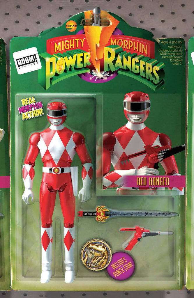 MIGHTY MORPHIN POWER RANGERS #2 UNLOCK ACTION FIGURE VAR COVER
