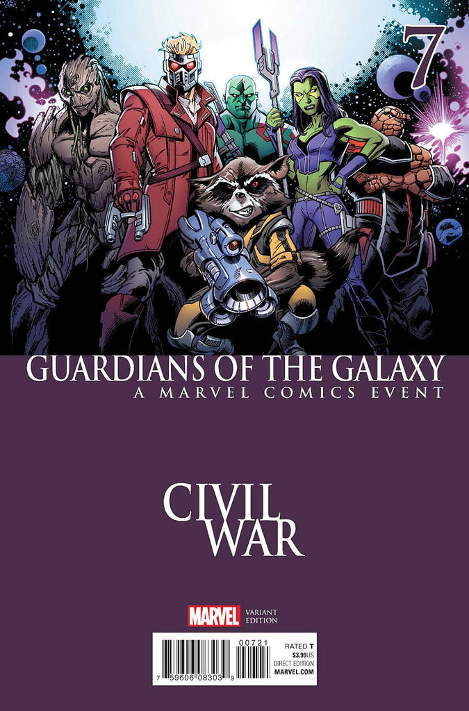 GUARDIANS OF GALAXY #7 BAGLEYCIVIL WAR VAR COVER