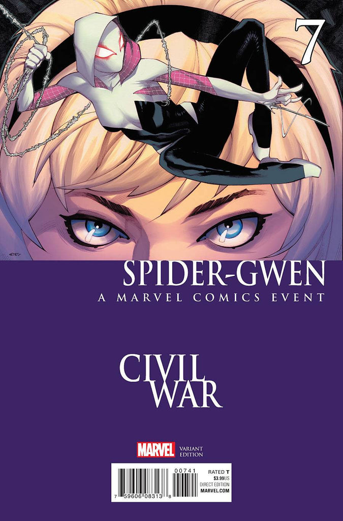 SPIDER-GWEN #7 STEVENS CIVIL WAR VAR SWO COVER