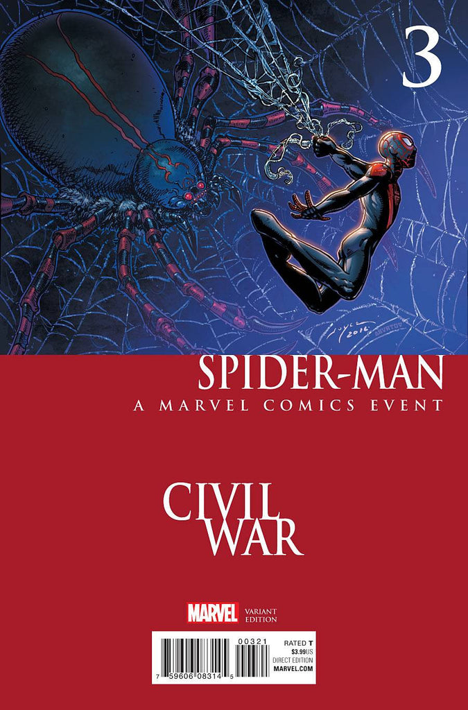 SPIDER-MAN #3 CHIN CIVIL WAR VAR