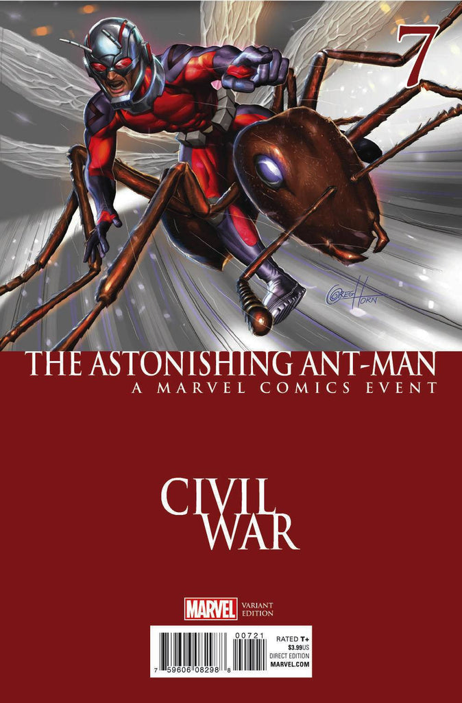 ASTONISHING ANT-MAN #7 HORN CIVIL WAR VAR COVER