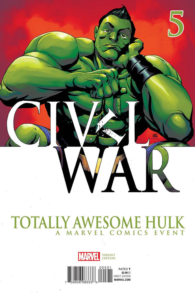 TOTALLY AWESOME HULK #5 PHAM CIVIL WAR VAR COVER
