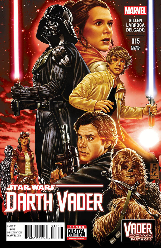 DARTH VADER #15 BROOKS 2ND PTG VAR VDWN COVER