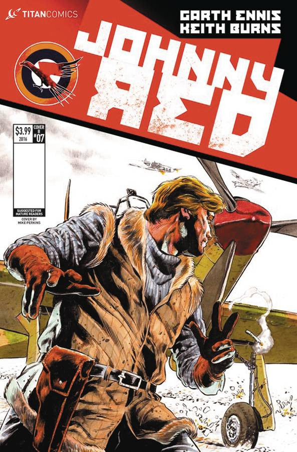 JOHNNY RED #7 (OF 8) CVR A PERKINS COVER