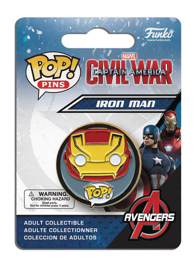 POP PINS CAPTAIN AMERICA 3 IRON MAN