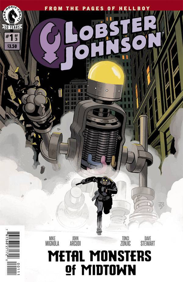 LOBSTER JOHNSON METAL MONSTERS OF MIDTOWN #1 (OF 3) COVER