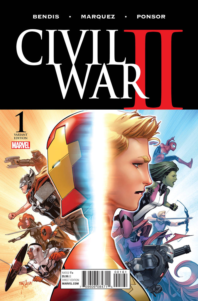 CIVIL WAR II #1 (OF 7) MARQUEZ VAR COVER