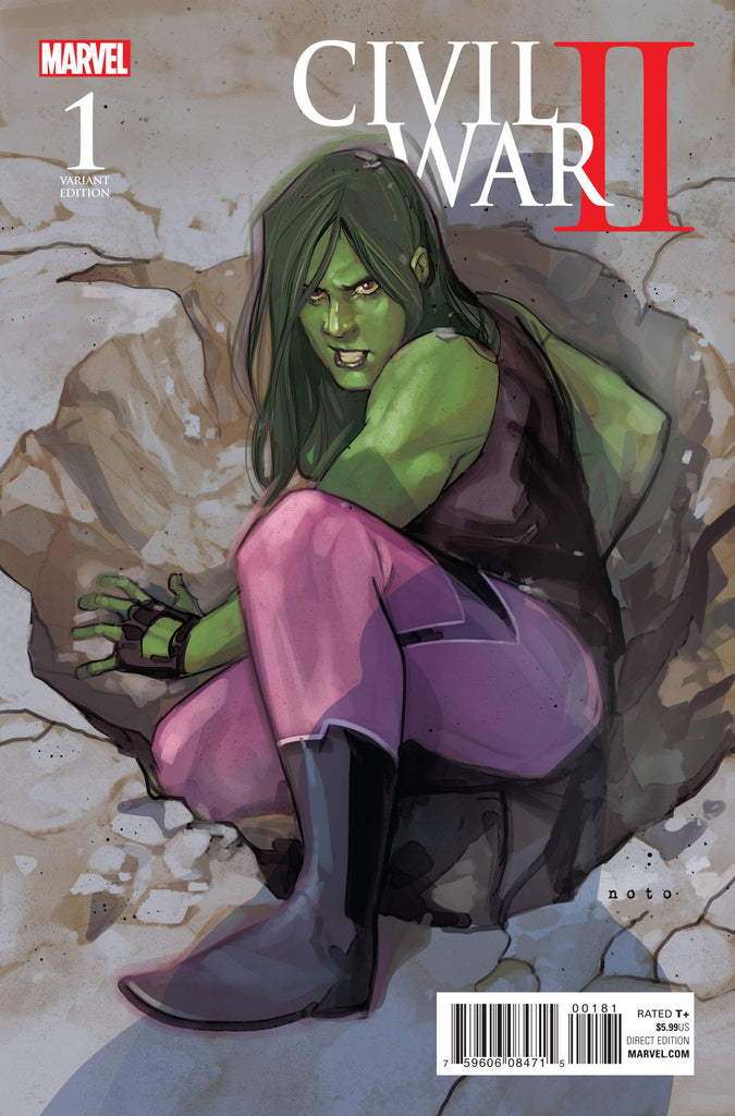 CIVIL WAR II #1 (OF 7) NOTO SHE-HULK VAR COVER