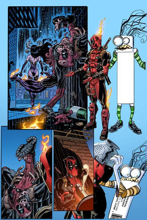 DEADPOOL #12 KOBLISH SECRET COMIC VAR COVER