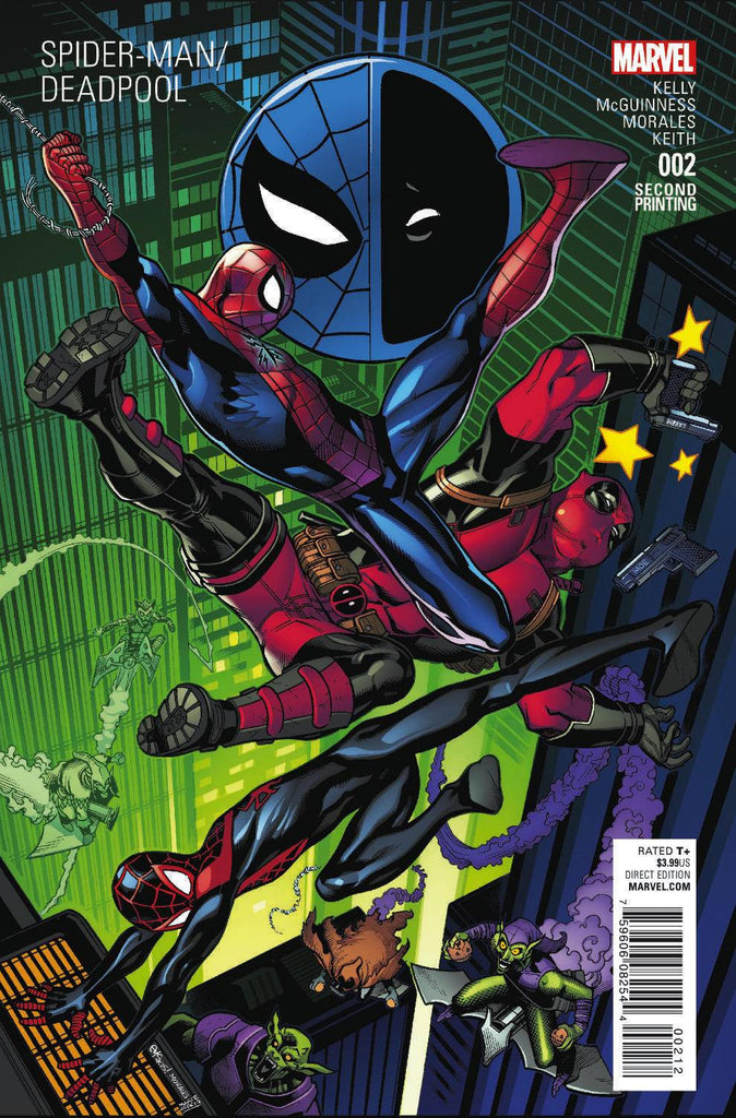 SPIDER-MAN DEADPOOL #2 MCGUINNESS 2ND PTG VAR COVER