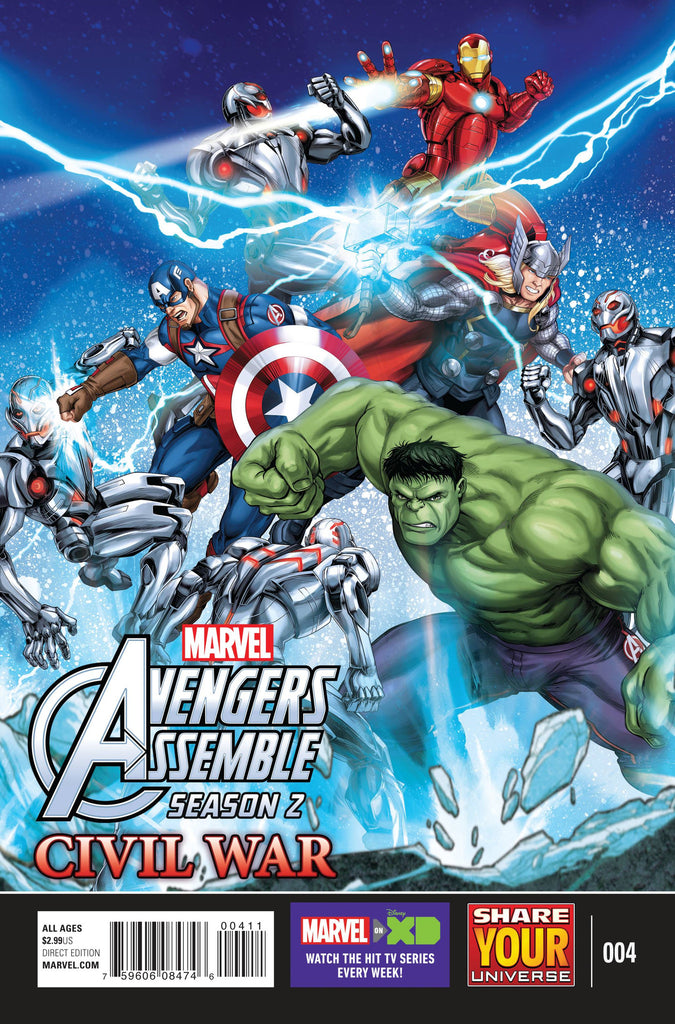 MARVEL UNIVERSE AVENGERS ASSEMBLE CIVIL WAR #4 COVER
