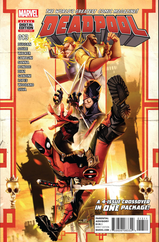 DEADPOOL #13 COVER