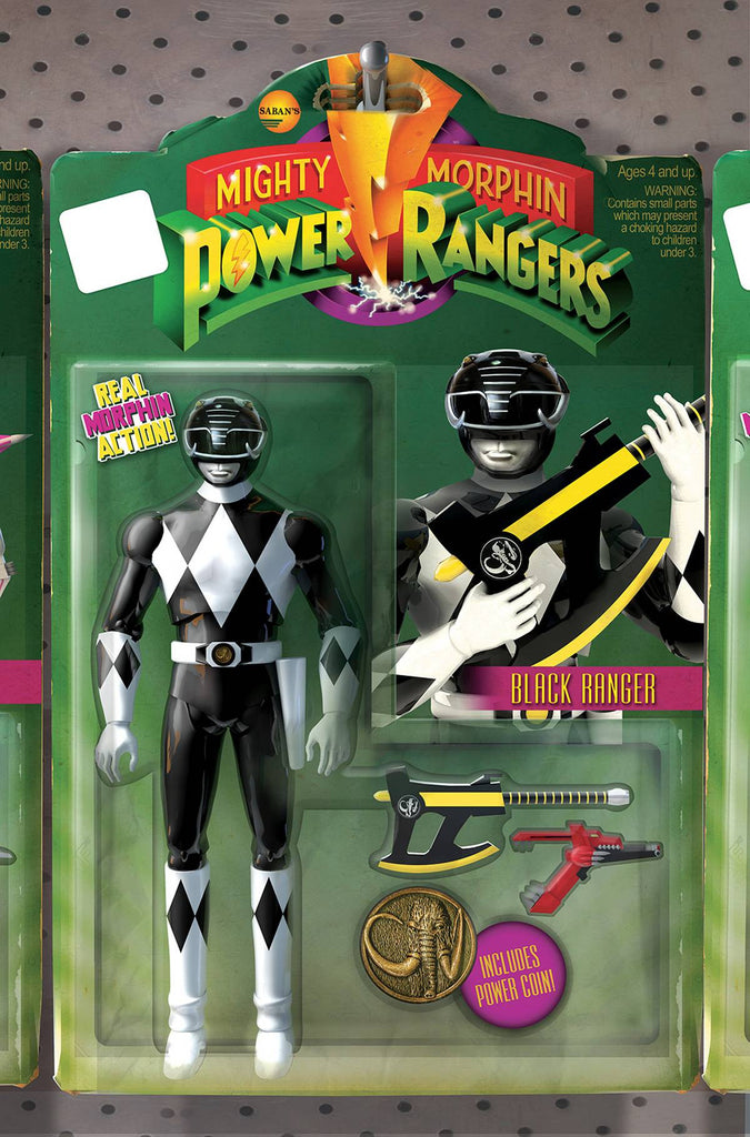 MIGHTY MORPHIN POWER RANGERS #4 UNLOCK ACTION FIGURE VAR COVER