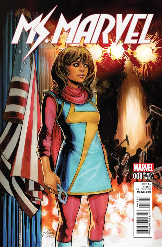 MS MARVEL #8 CW REENACTMENT VAR CW2 COVER
