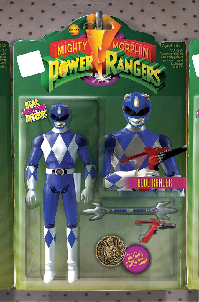 MIGHTY MORPHIN POWER RANGERS #6 UNLOCK ACTION FIGURE VAR COVER