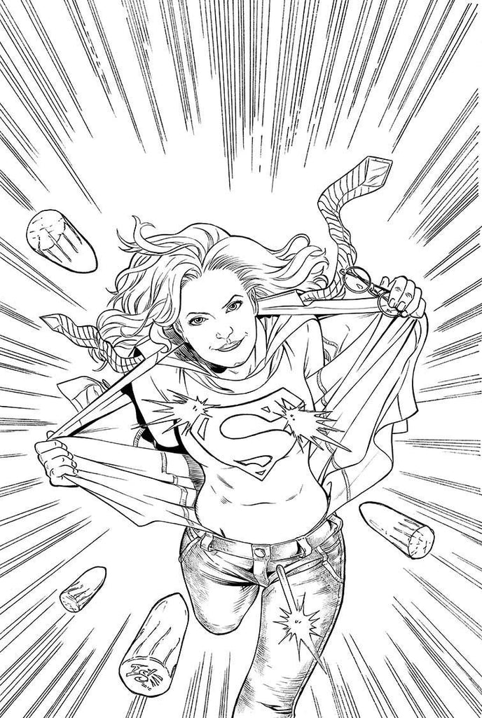 COLOURING DC SUPERGIRL TP COVER