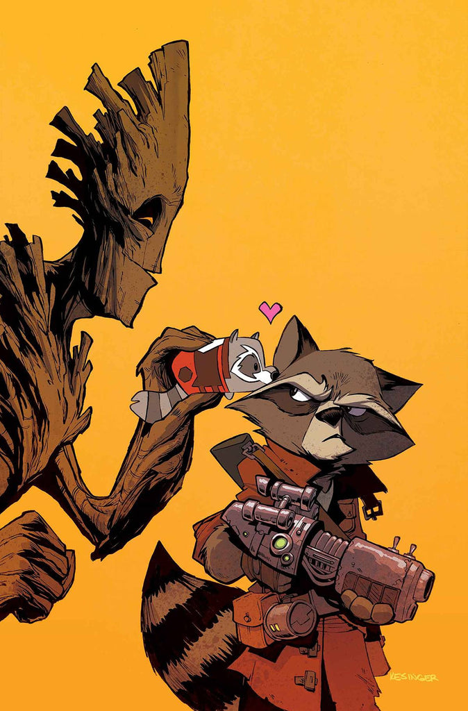 ROCKET RACCOON AND GROOT #8 KESINGER TSUM TSUM VAR CW2 COVER