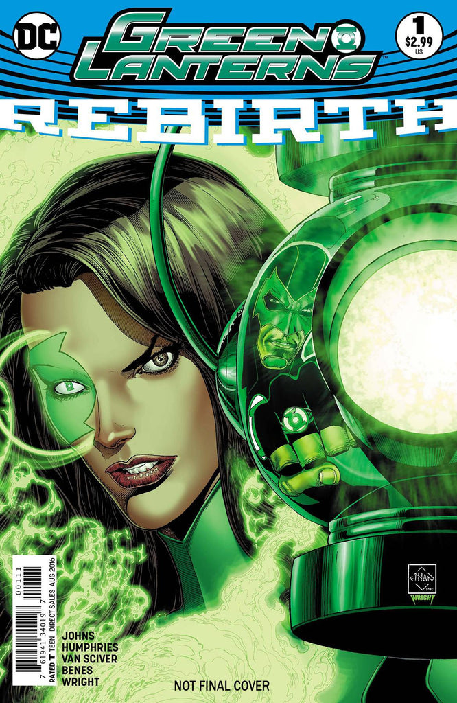 GREEN LANTERNS REBIRTH #1 2NDPTG COVER