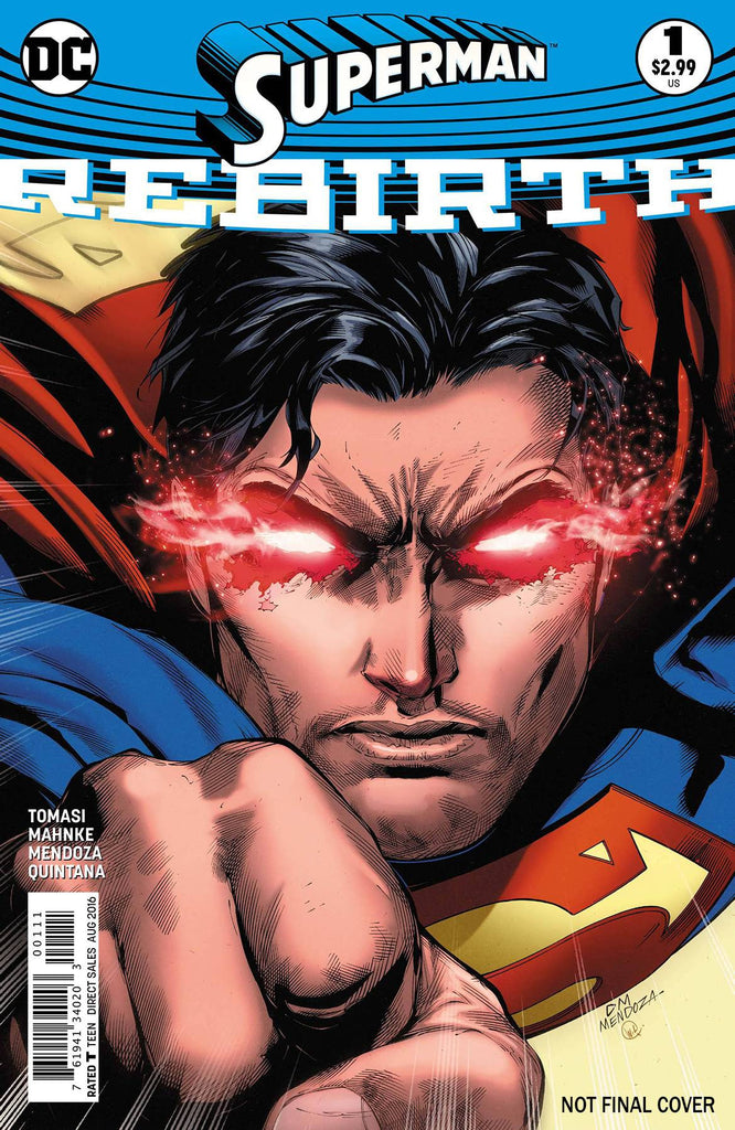 SUPERMAN REBIRTH #1 2ND PTG COVER
