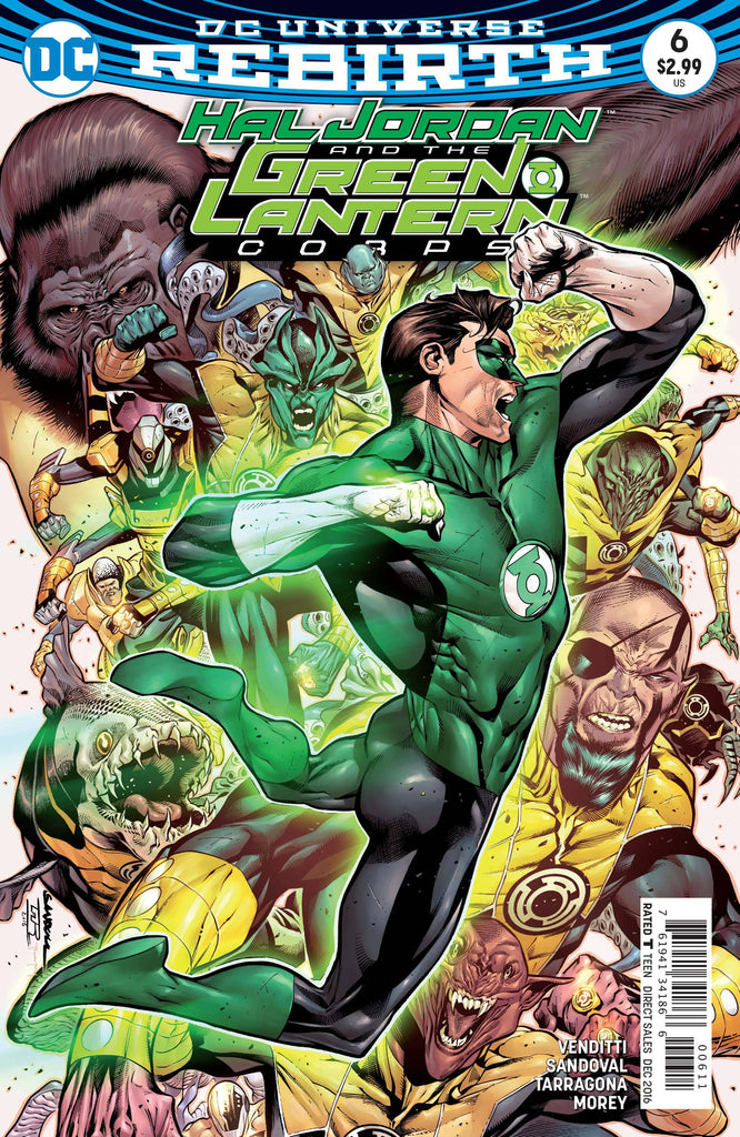 HAL JORDAN AND THE GREEN LANTERN CORPS #6 COVER