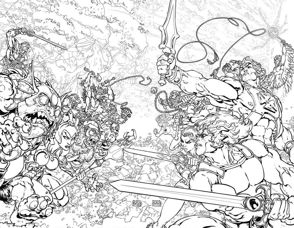 HE MAN THUNDERCATS #1 (OF 6) COLOURING BOOK VAR ED COVER