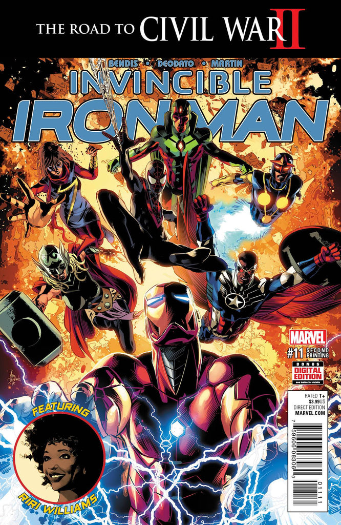 INVINCIBLE IRON MAN #11 DEODATO 2ND PTG VAR COVER
