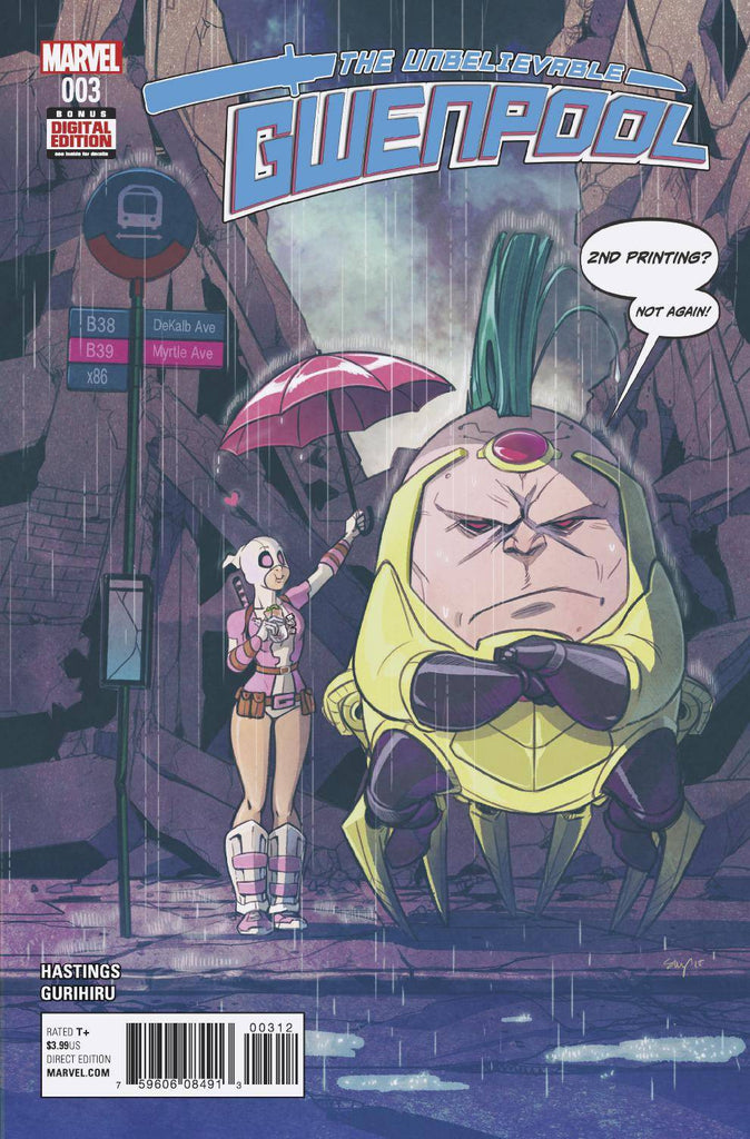 GWENPOOL #3 STACEY LEE 2ND PTG VAR COVER