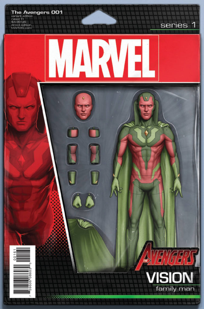 AVENGERS #1 CHRISTOPHER ACTION FIGURE VAR NOW COVER