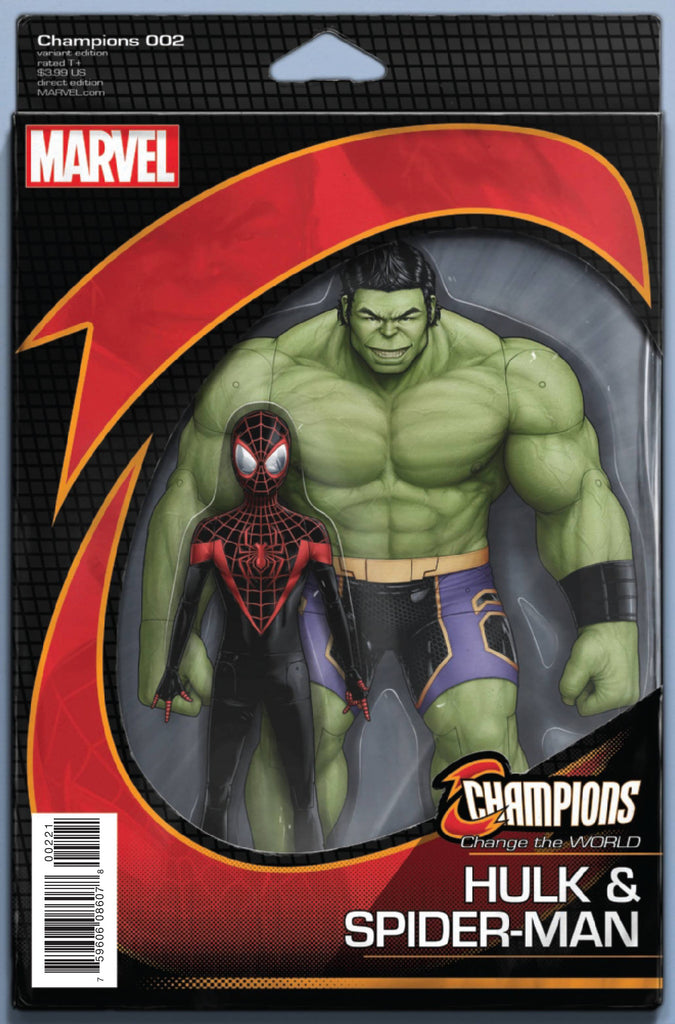 CHAMPIONS #2 CHRISTOPHER ACTION FIGURE VAR COVER