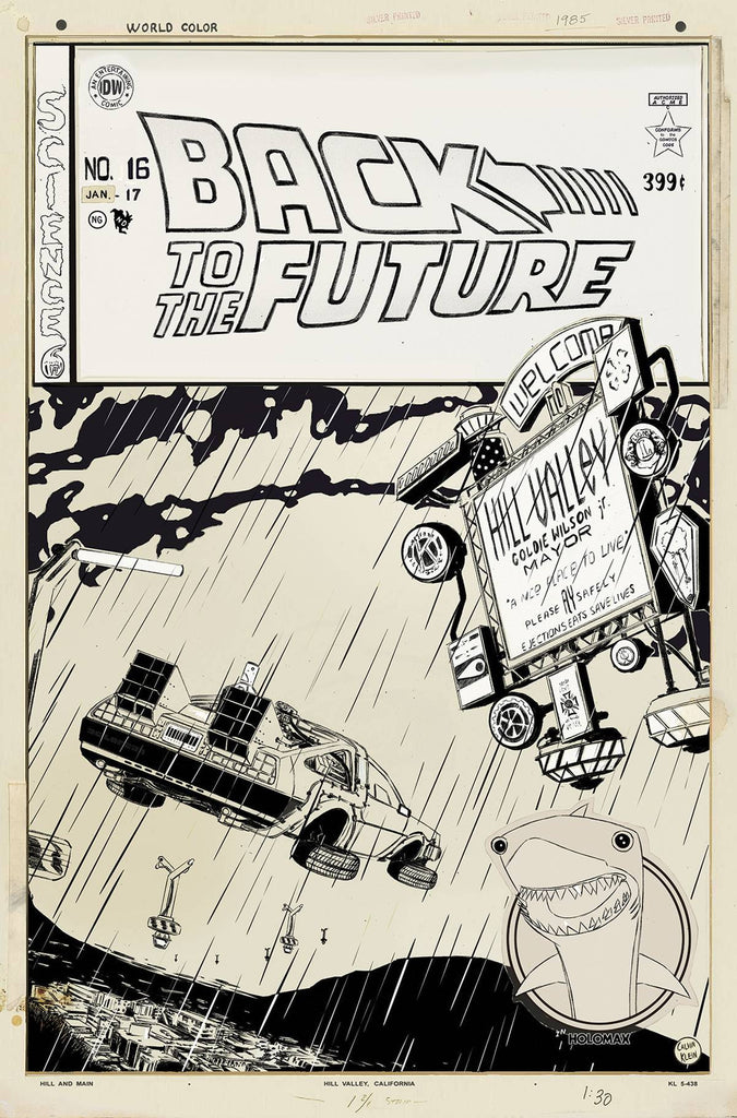 BACK TO THE FUTURE #16 ARTISTED VAR COVER
