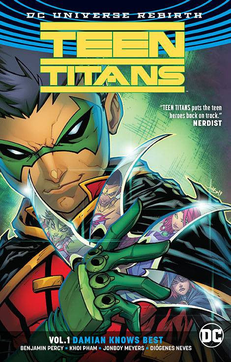 TEEN TITANS TP VOL 01 DAMIAN KNOWS BEST (REBIRTH) COVER