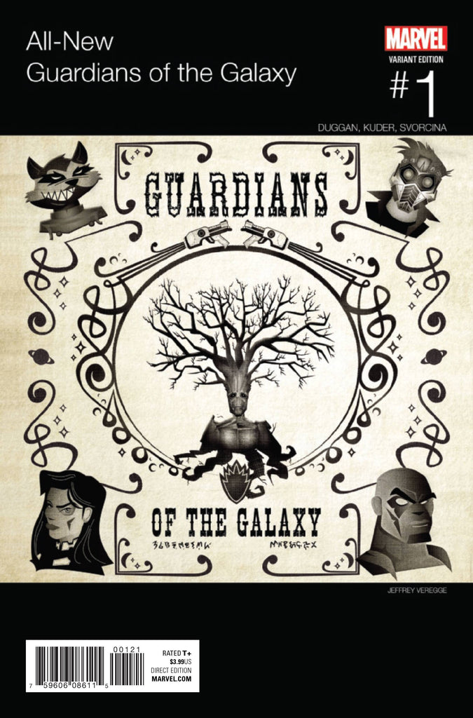 ALL NEW GUARDIANS OF GALAXY #1 VEREGGE HIP HOP VAR COVER