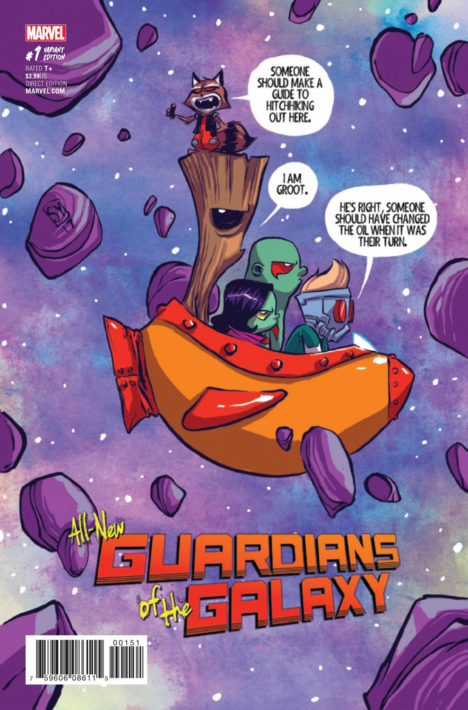 ALL NEW GUARDIANS OF GALAXY #1 YOUNG VAR COVER