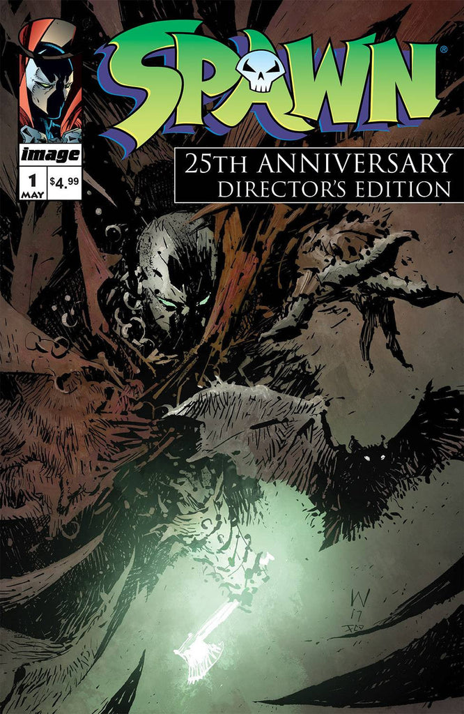 SPAWN #1 25TH ANNIVERSARY DIRECTORS CUT CVR A WOOD COVER