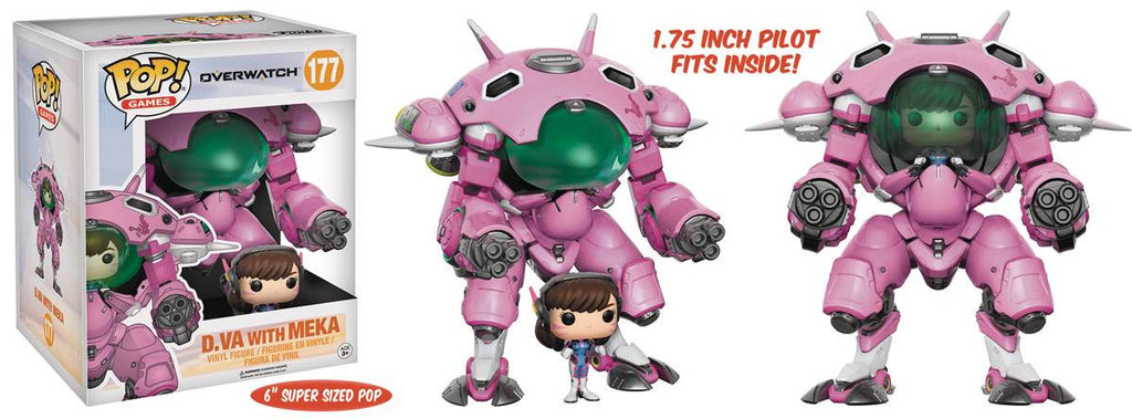 POP OVERWATCH 6IN MEKA W/ D VA VIN FIG 2PK