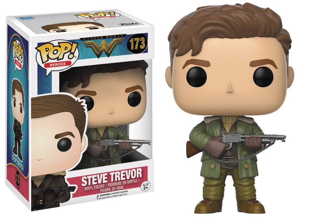 POP WONDER WOMAN MOVIE STEVE TREVOR VINYL FIG